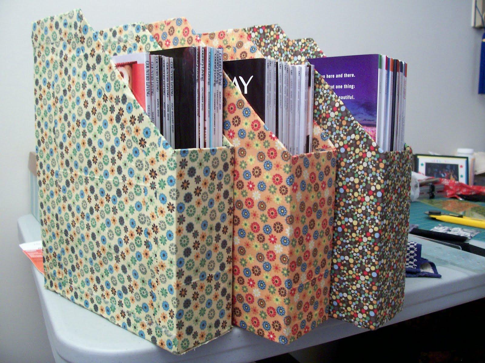 The Crafty Snicklefritzes Pretty Fabric Magazine Racks