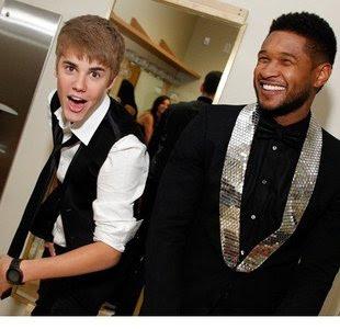 Justin Bieber Usher on Justin Bieber   Usher