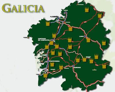 mapa pazos de galicia galician manor houses map
