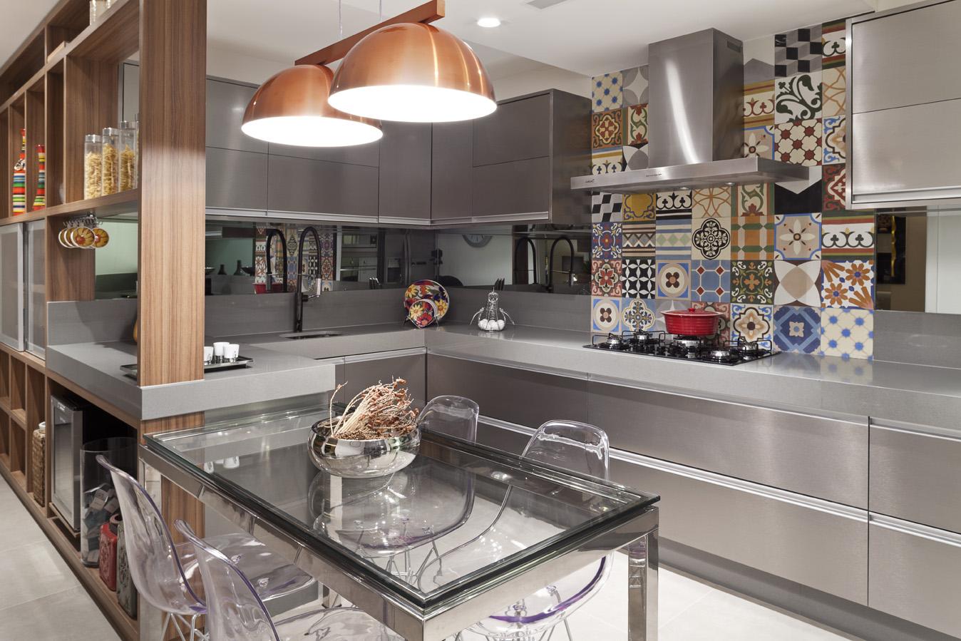 Cozinha Planejada Branca E Marrom Amazing Cozinha Planejada Com