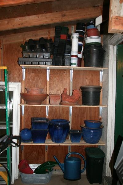 Garden container storage