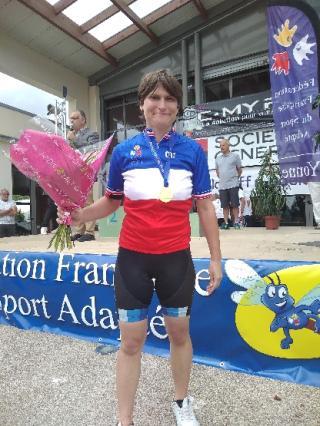 Aurélie championne de France VTT à Auxerre