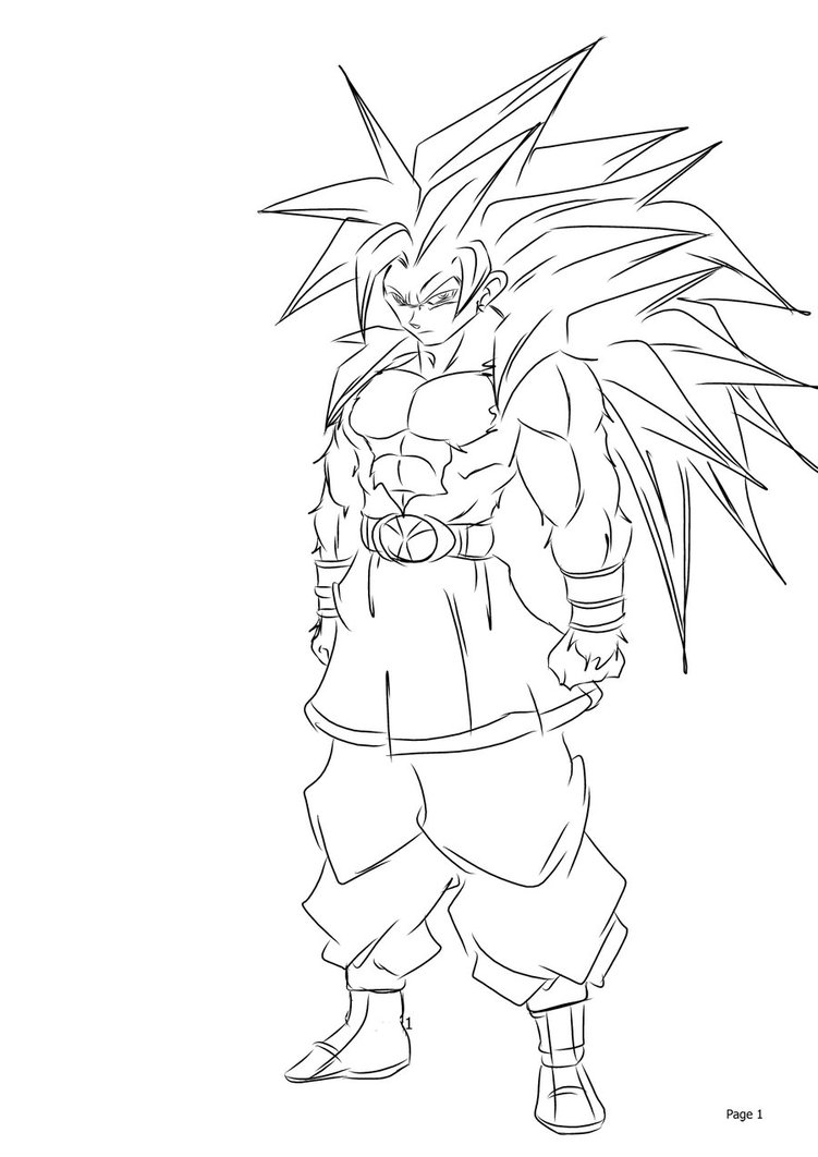 Como Desenhar Goku Super Saiyajin 4 ( Dragon Ball GT