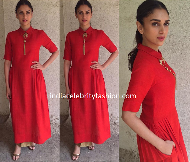 Aditi Rao Hydari in Payal Khandwala Long Kurti