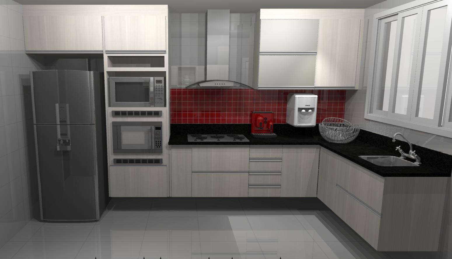 Projeto 2: Cozinha Decoração e Móveis Planejados em Caxias e  #5E2C2C 1549 887