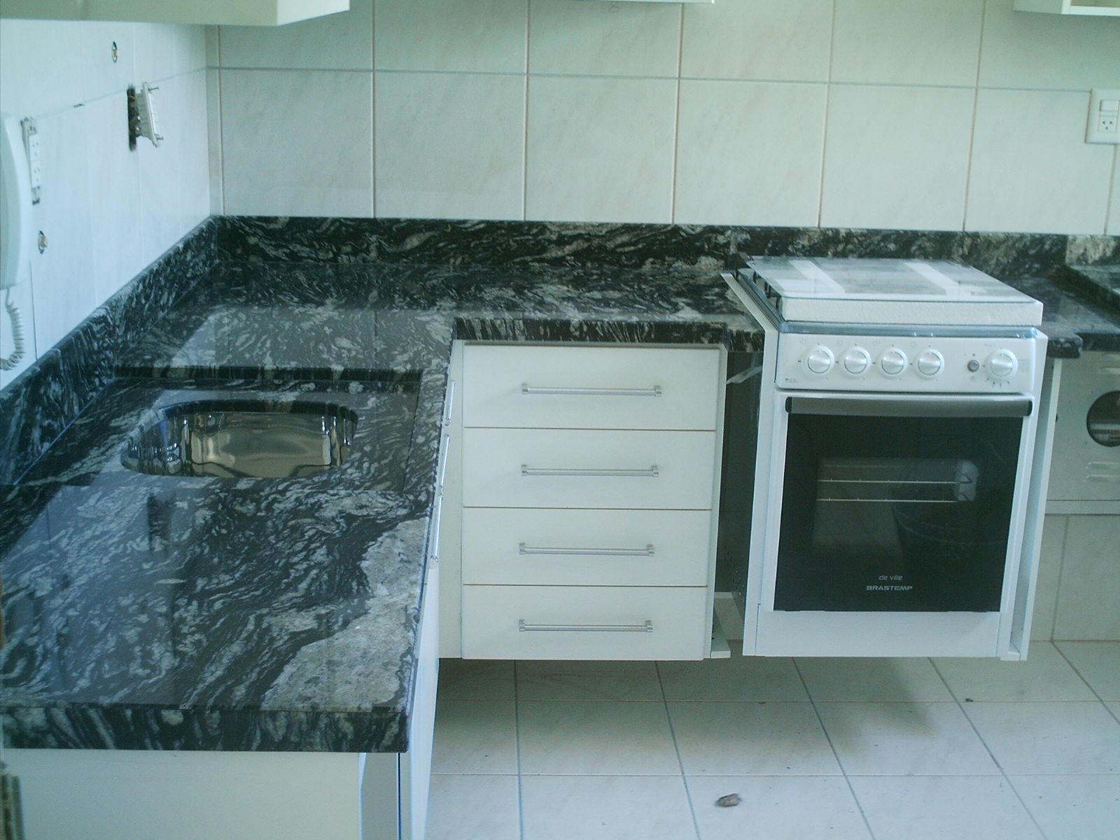 Bancada para Cozinha em Granito Preto Indiano #34515B 1600x1200