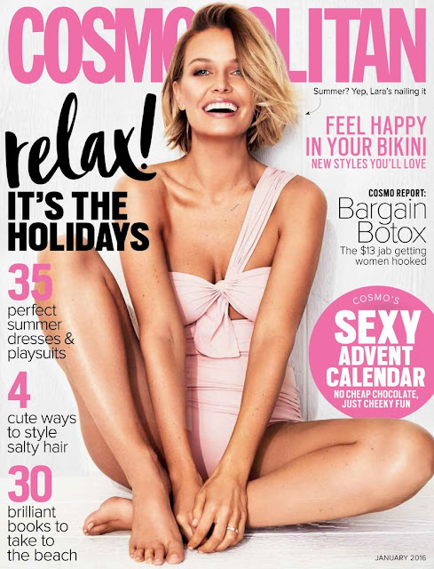 Fashion Model, TV Personality, @ Lara Bingle - Cosmopolitan Australia, January 2016