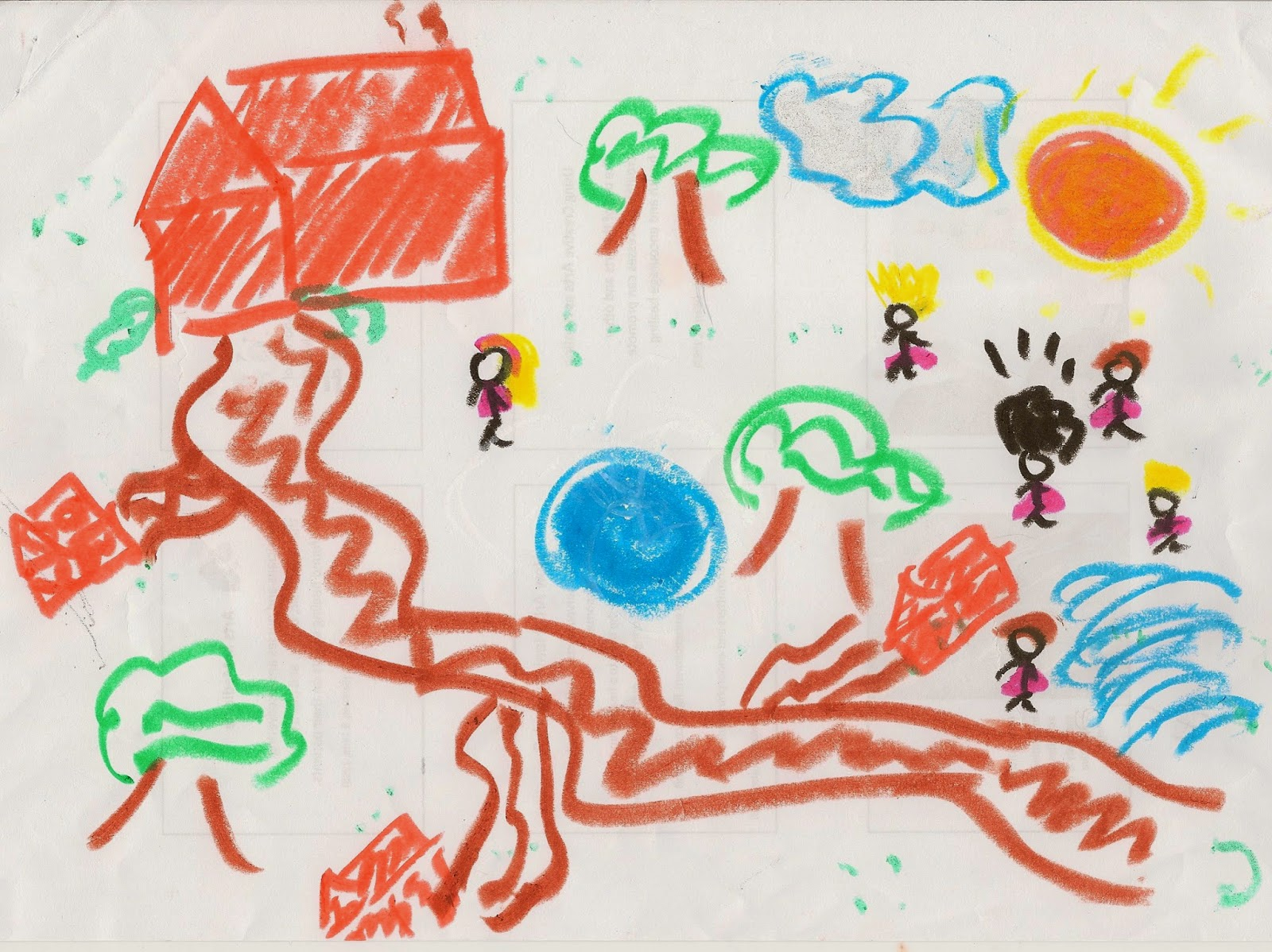 Scribble Drawing Kids : Projective drawing and traumatised children