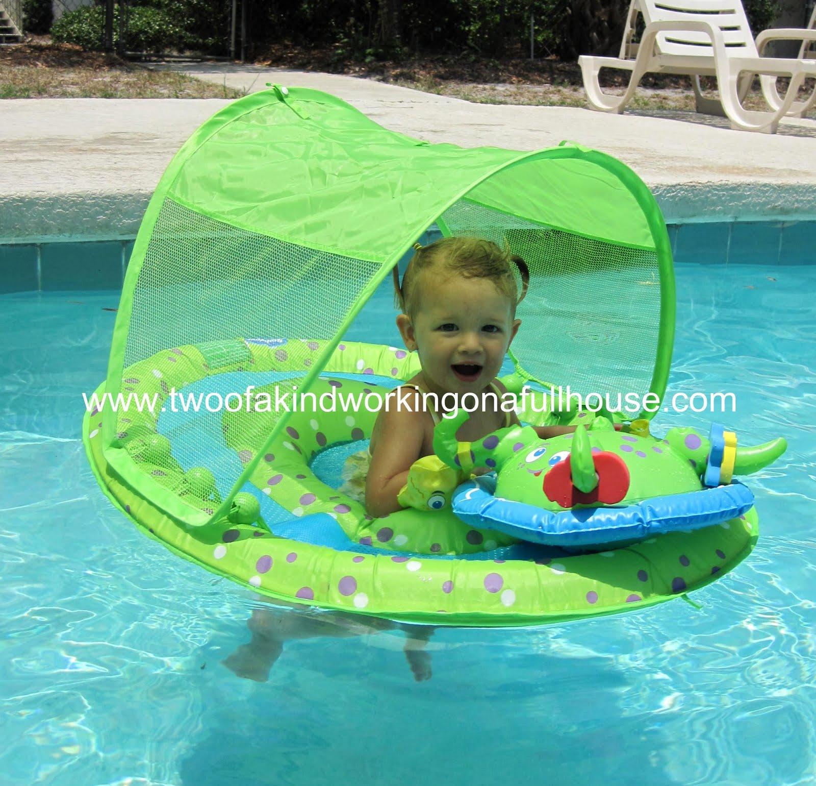 SwimWays Ambassador Teaching Kids To Swim With Pool Floats And