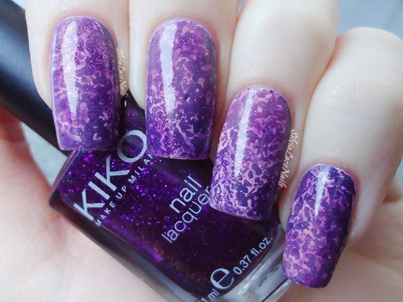 Amethyst Salted Watercolor Nails