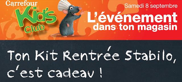 Carrefour: Kit rentrée Stabilo Gratuit