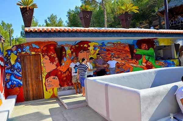 Graffiti mural de Ibiza