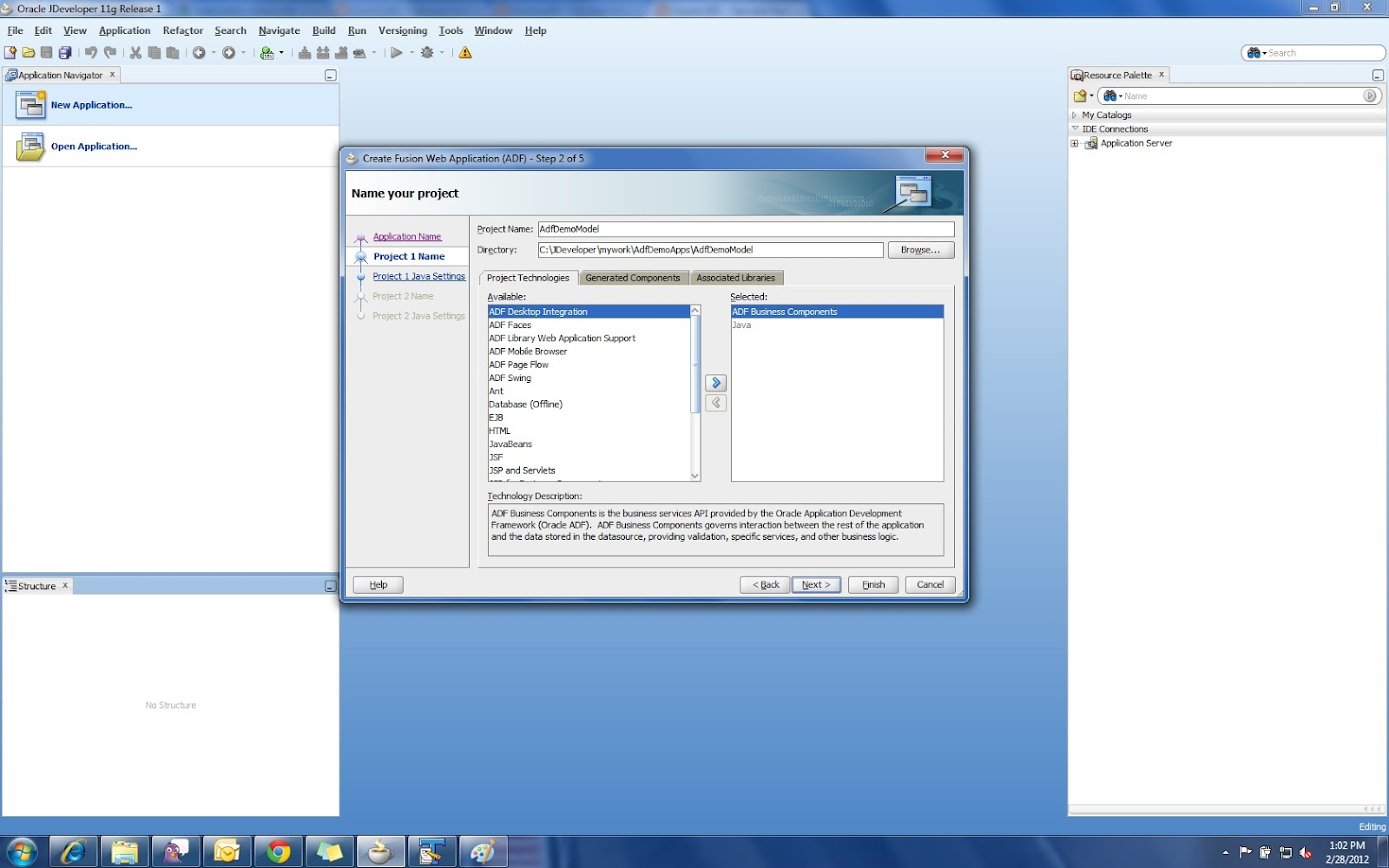 Oracle java tutorials choice image any tutorial examples oracle adf step by step guide oracle adf tutorial getting step 4 baditri choice image baditri Images