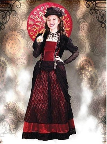 Black and Red Aristocratic Steampunk Dress