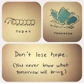 No pierdas la esperanza,