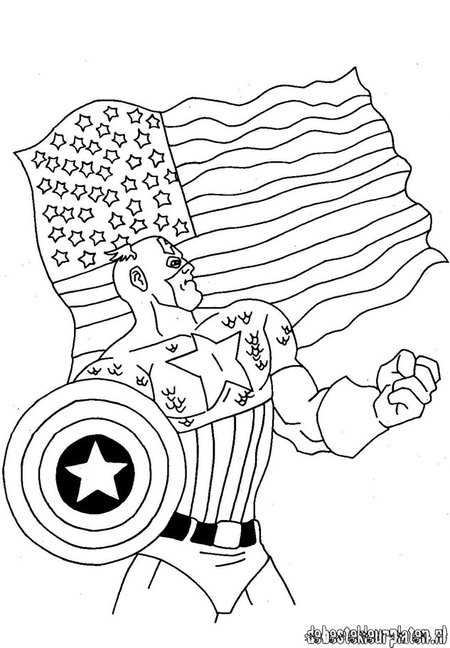 Avengers Christmas Coloring Pages : Captain america avengers coloring pages for kids