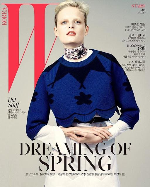 Fashion Model, @ Hanne Gaby Odiele by David Slijper for W Korea, February 2016