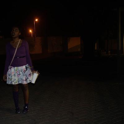 black lipstick, glitter daiquiri, khensani mohlatlole, sun dresses, mr price, factorie jelly sandals, jelly sandals knee socks, sling bag, pixie cut, rookie