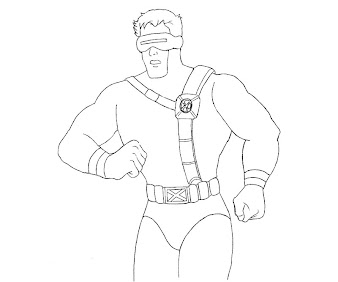 #6 Cyclops Coloring Page