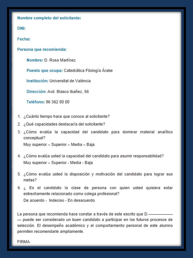 Carta de referencia en consecuencia modelo de carta de recomendaci 243 n