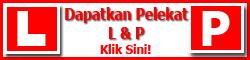 Stiker P & L Kereta dan Motor