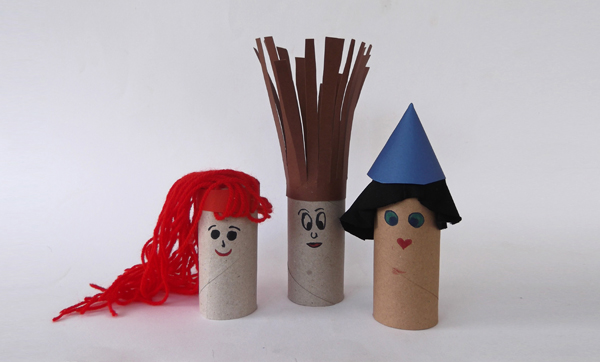 human figures, puppets, crafts, toilet paper rolls, puppets with toilet paper roll, paper puppets, paper dolls, cardboard puppets, cardboard dolls,