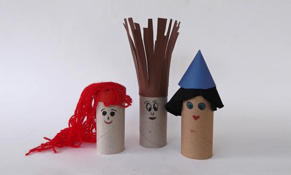 κατασκευές από ρολό, χειροτεχνίες από ρολό, κούκλες, φιγούρες, μαριονέτες, χειροτεχνίες για παιδιά, ιδέες για χειροτεχνίες, κατασκευές από καρτόνι, κατασκευές με χαρτόνι, χειροτεχνίες με χαρτόνι, κουκλοθέατρο,