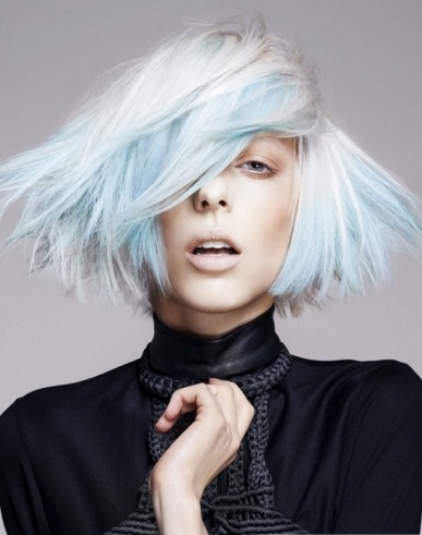 Blue Highlights and Platinum Hair 2014