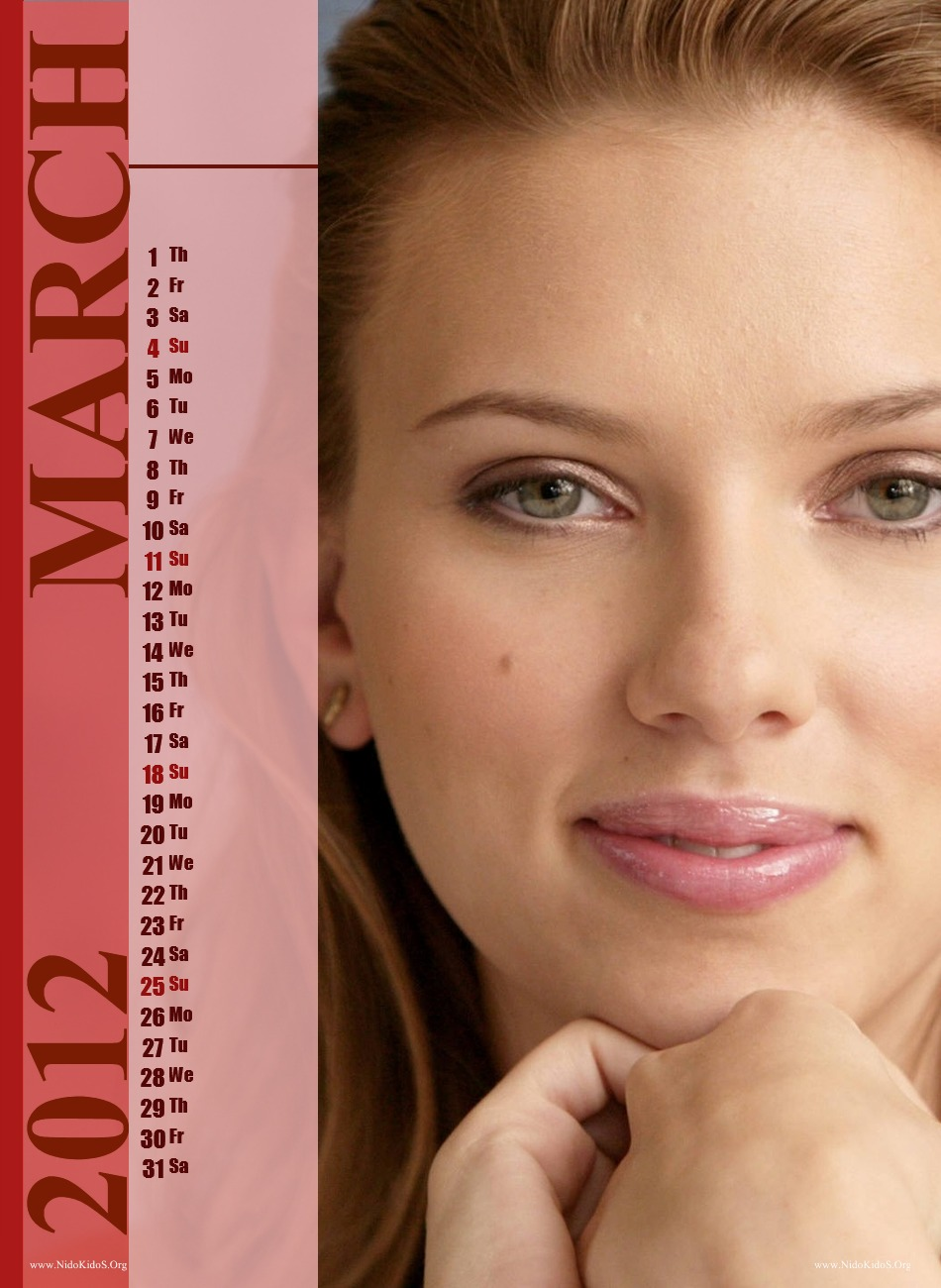 Scarlett Johansson 2012 Calendar