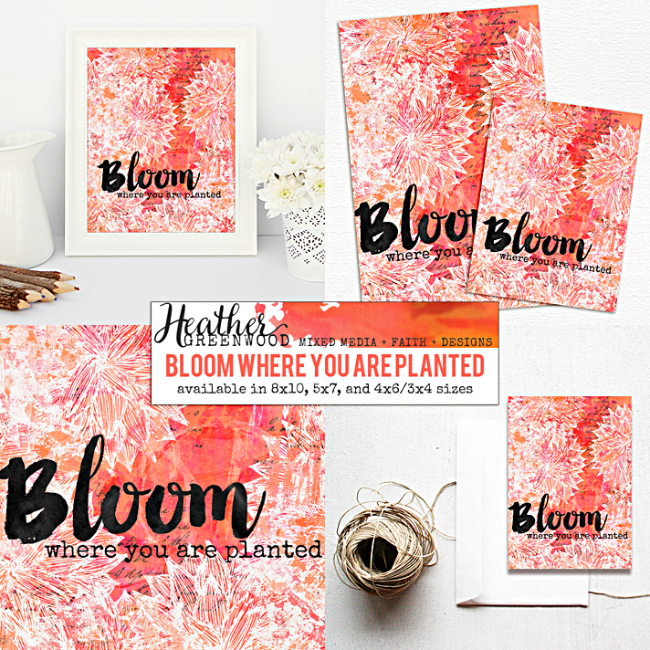 Bloom Where You Are Planted | Heather Greenwood Designs Etsy Shop