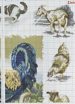 Gráficos de animais da fazenda ponto cruz