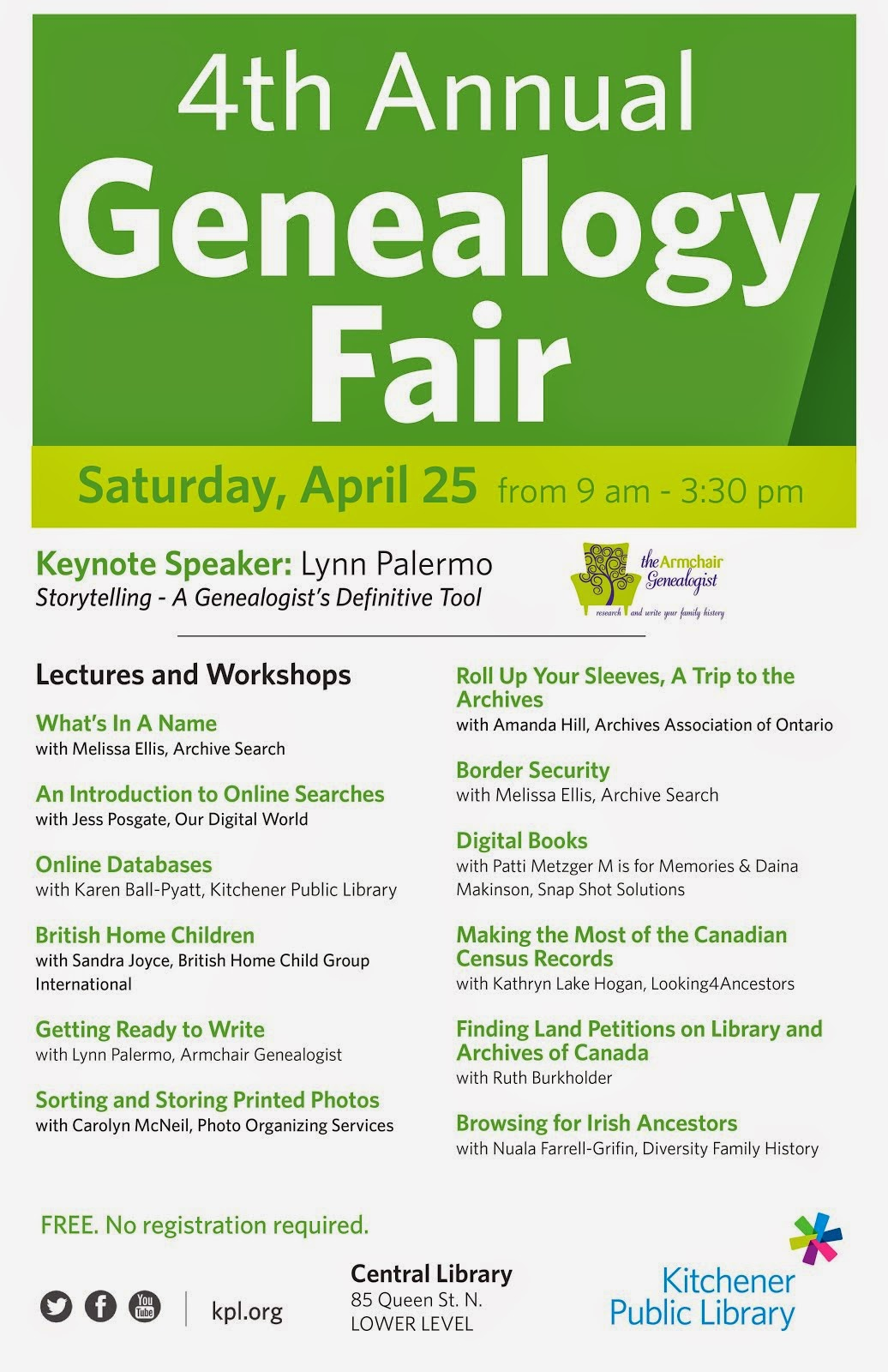 Kitchener Genealogy Fair