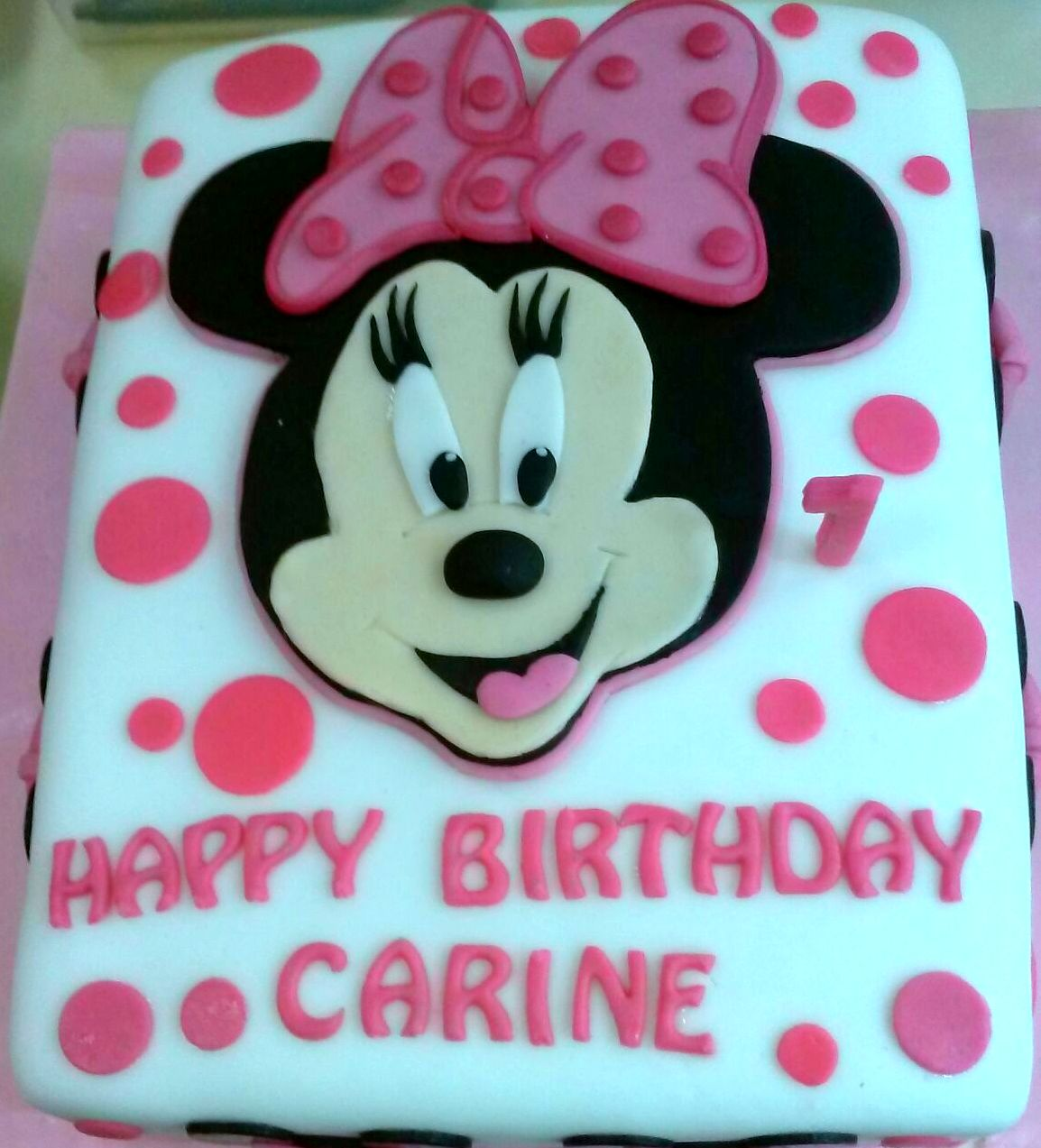 Minnie Mouse Pink And White Cake Sherbakes