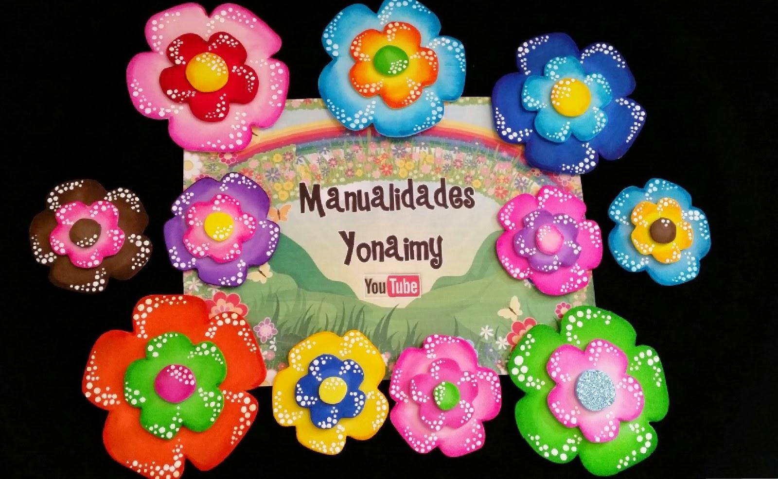 8 cosas que puedes hacer con goma EVA Material para  - Imagenes De Flores Hechas En Goma Eva