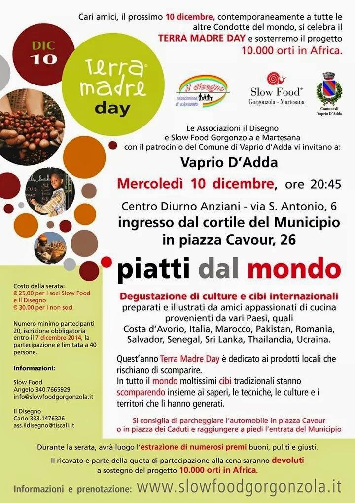 Piatti Dal Mondo 10 Dicembre Vaprio D'Adda (MI)