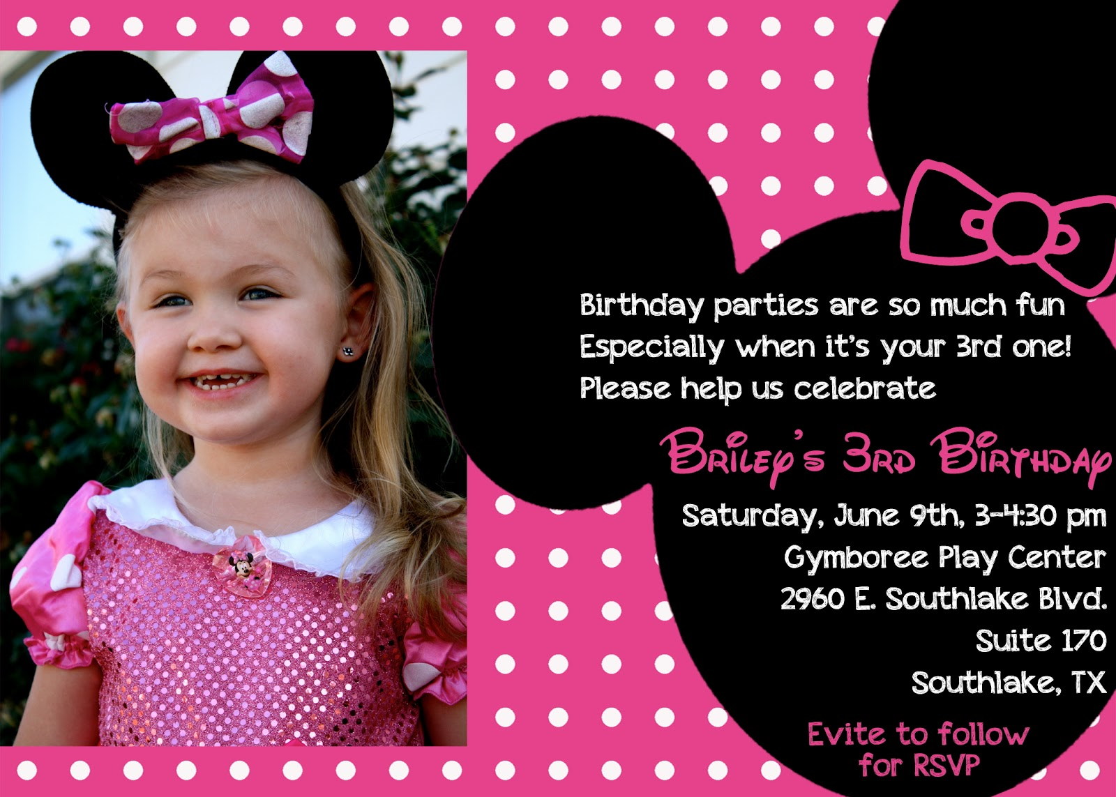 The Bufe Family Minnie Mouse 3rd Birthday Party