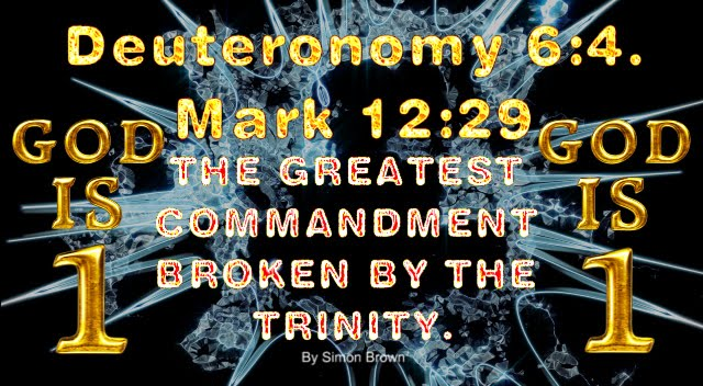 Deuteronomy 6:4. Mark 12:29. GOD is ONE.