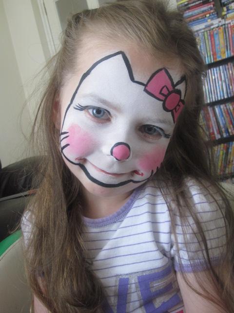 Marta Lapkowska Malowanie Twarzy Dzieci Wzory Hello Kitty Face