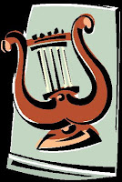 U shaped lyre Harp