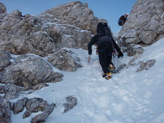 Chiaretti-Pietrostefani - Primo salto della cresta Nord