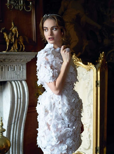 Lily James Harper's Bazaar magazine photo