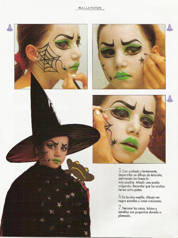 Manualidades Para Ninos Maquillaje Bruja De Halloween - Maquillaje-infantil-de-bruja
