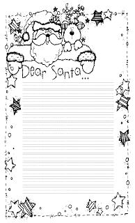 santa letter colouring pages