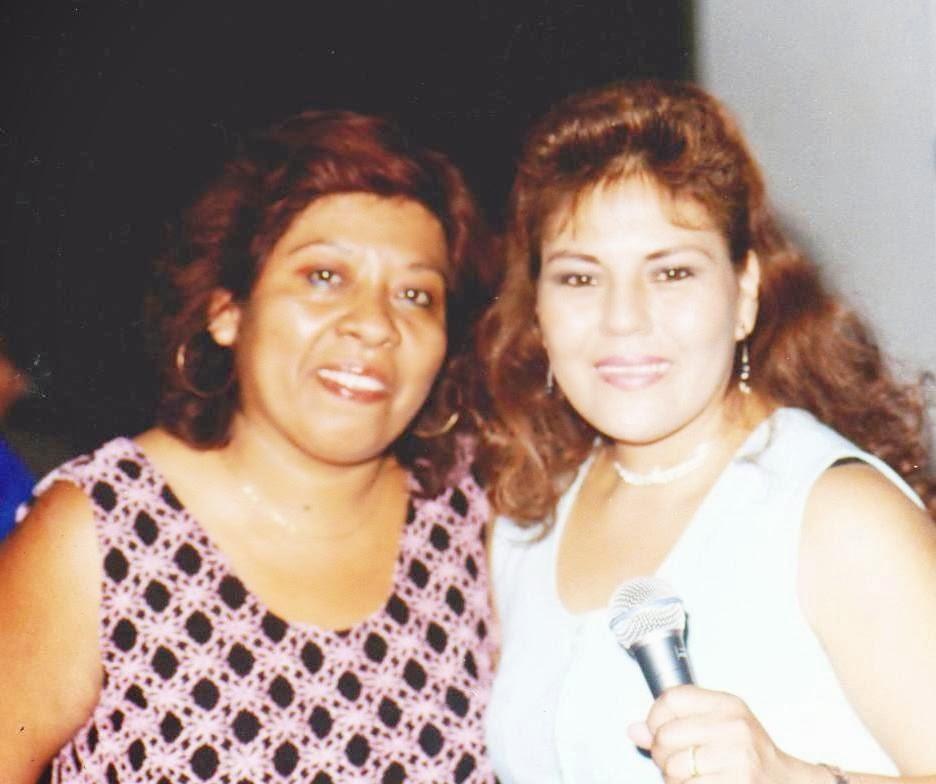Con Dina Paucar