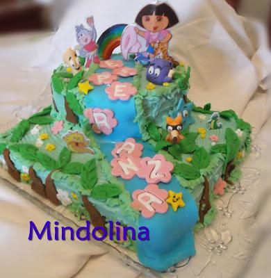 Mindolina en la cocina tarta dora exploradora para esperanza - Dora la exploradora cocina ...