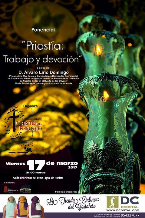 """PONENCIA: """"PRIOSTIA: TRABAJO Y DEVOCIÓN"""" A CARGO DE D. ALVARO LIRIO"""