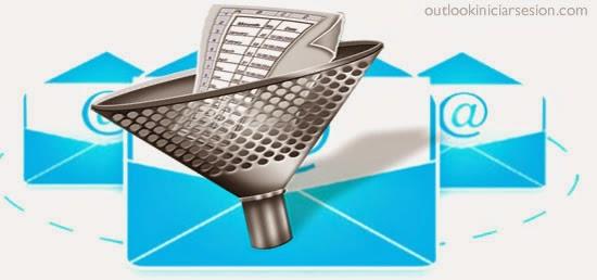 outlook iniciar sesion - filtros correo electronico