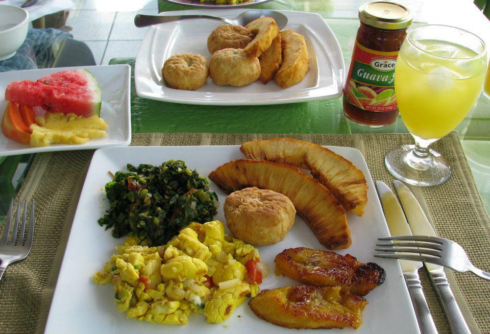 Featured Jamaican Native Dishes, Juice, Fruits & More