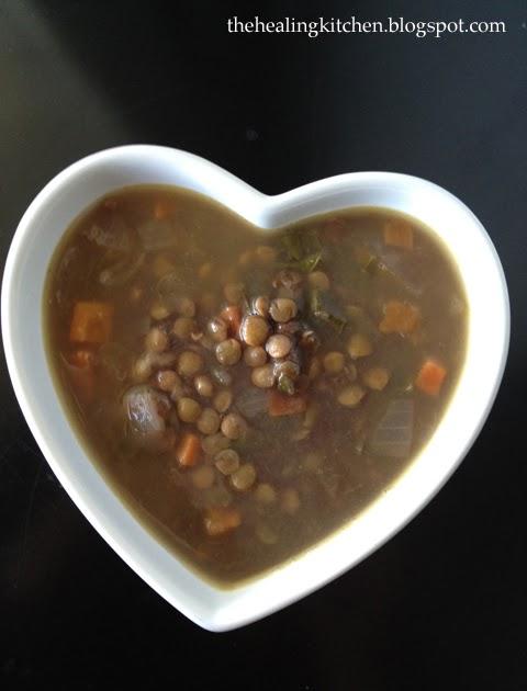 The Healing Kitchen: Pomegranate Lentil Soup