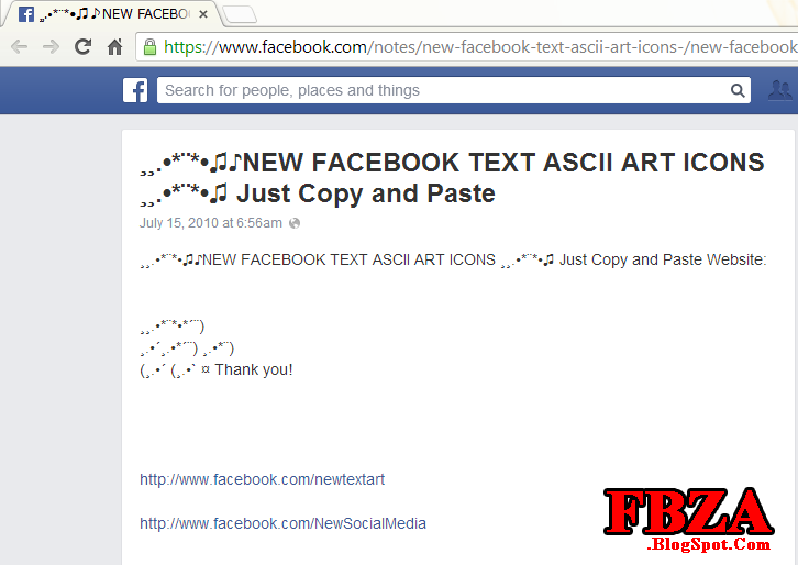 New Facebook ASCII Arts